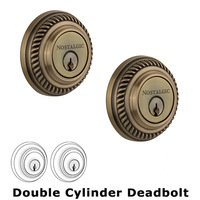 Nostalgic Warehouse - Rope - Double Deadbolt in Antique Brass