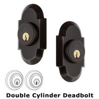 Nostalgic Warehouse - Cottage - Double Deadbolt - Cottage Deadbolt in Timeless Bronze