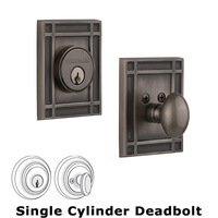Nostalgic Warehouse - Mission - Single Deadbolt in Antique Pewter