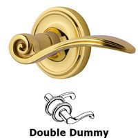 Nostalgic Warehouse - Classic - Classic Rose Double Dummy Swan Lever in Antique Brass