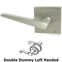 Omnia Industries - Door Levers - Double Dummy Straight Tapered Left Handed Lever with Square Rosette in Satin Nickel
