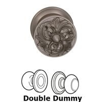 Omnia Industries - Door Knobs - Double Dummy Set Ornate Flower Knob with Radial Rosette in Satin Nickel