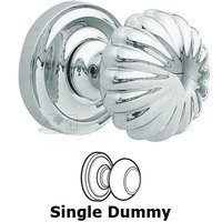 "Omnia Industries - Door Knobs - Single Dummy Classic 2 3/8"" Melon Knob with Radial Rosette in Polished Chrome"