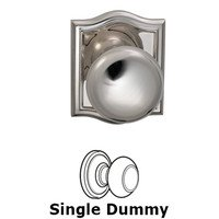Omnia Industries - Prodigy - Single Dummy Colonial Knob with Arch Rose in Polished Nickel