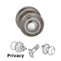 Omnia Industries - Door Knobs - Privacy Traditions Knob with Radial Rosette in Polished Nickel Lacquered