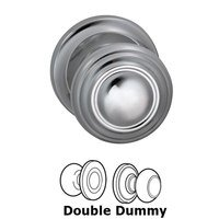 Omnia Industries - Door Knobs - Double Dummy Traditions Knob with Radial Rosette in Polished Chrome