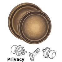 Omnia Industries - Arc Knobs - Privacy Milled Knob Milled Rose in Antique Brass Lacquered