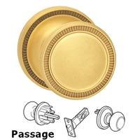 Omnia Industries - Arc Knobs - Passage Milled Knob Milled Rose in Satin Brass Lacquered
