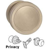Omnia Industries - Arc Knobs - Privacy Edged Knob and Small Edged Rose in Satin Nickel Lacquered