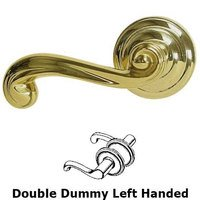 Omnia Industries - Door Levers - Double Dummy Wave Left Handed Lever with Radial Rosette in Max Brass