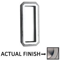 "Omnia Industries - Flush Pulls - 4"" (102mm) Traditional Recessed Pull in Satin Nickel Lacquered"