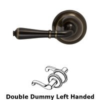 Omnia Industries - Door Levers - Double Dummy Orlean Left Handed Lever with Radial Rosette in Shaded Bronze