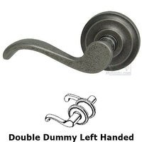 Omnia Industries - Door Levers - Double Dummy Spring Left Handed Lever with Radial Rosette in Vintage Iron