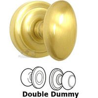 Omnia Industries - Door Knobs - Double Dummy Set Classic Egg Knob with Radial Rosette in Satin Brass