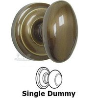 Omnia Industries - Door Knobs - Single Dummy Classic Egg Knob with Radial Rosette in Shaded Bronze
