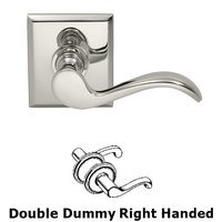 Omnia Industries - Prodigy - Right Handed Double Dummy Wave Lever with Rectangle Rose in Polished Nickel