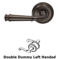 Omnia Industries - Door Levers - Double Dummy Traditions Left Handed Lever with Radial Rosette in Antique Bronze