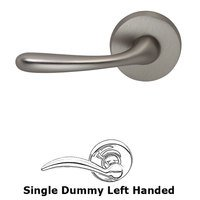 Omnia Industries - Door Levers - Single Dummy Verona Left Handed Lever with Plain Rosette in Satin Nickel Lacquered