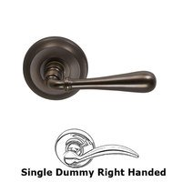Omnia Industries - Door Levers - Single Dummy Traditions Right Handed Lever with Radial Rosette in Antique Bronze Unlacquered