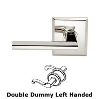 Omnia Industries - Wedge Prodigy - Double Dummy Wedge Left-Handed Lever with Rectangular Rose in Polished Nickel Plated, Lacquered
