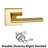 Omnia Industries - Wedge Prodigy - Double Dummy Wedge Right-Handed Lever  with Square Rose in Polished Brass, Lacquered