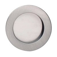 "Omnia Industries - Flush Pulls - 2"" (51mm) Round Modern Recessed Pull in Satin Nickel Lacquered"