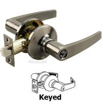 Richelieu Hardware - Straight Lever - Keyed Straight Door Lever in Antique Nickel