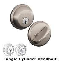 Schlage Door Hardware - Deadbolts - B60 Series - Single Deadbolt in Satin Nickel