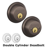 Schlage Door Hardware - Deadbolts - B62 Series - Double Deadbolt in Oil Rubbed Bronze