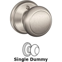 Schlage Door Hardware - Andover Door Knobs - F170 Series - Single Dummy Andover Door Knob in Satin Nickel