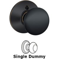 Schlage Door Hardware - Plymouth Door Knobs - F170 Series - Single Dummy Plymouth Door Knob in Aged Bronze