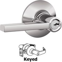 Schlage Door Hardware - Latitude Door Levers - F51A Series - Keyed Latitude Door Lever in Bright Chrome