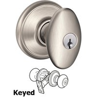 Schlage Door Hardware - Siena Door Knobs - F51A Series - Keyed Siena Door Knob in Satin Nickel