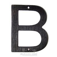 "SMEDBO - House Numbers - Villa Letter ""B"" in Oxidized Brass"