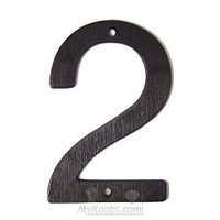 "SMEDBO - House Numbers - Villa Figure ""2"" in Oxidized Brass"