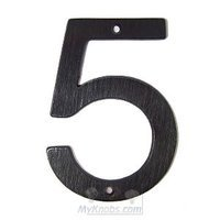 "SMEDBO - House Numbers - Villa Figure ""5"" in Oxidized Brass"