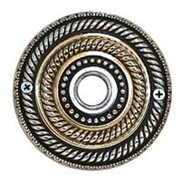 Vicenza Hardware - Door Bell - Double Sanzio Rope Silver/Gold Design in Silver And Gold