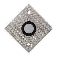 Vicenza Hardware - Door Bell - Door Bells Collection Cestino Weave Design in Satin Nickel