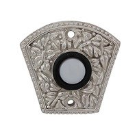 Vicenza Hardware - San Michele - Floral Design in Satin Nickel