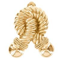 Vicenza Hardware - Equestre - Door knockers Collection - Twisted Equestre Rope in Satin Nickel