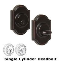 Weslock Door Hardware - Elegance Premiere Deadbolts - Premiere Single Deadbolt Lock in Oil Rubbed Bronze