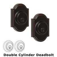 Weslock Door Hardware - Elegance Premiere Deadbolts - Premiere Double Deadbolt Lock in Oil Rubbed Bronze