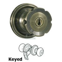 Weslock Door Hardware - Traditionale Eleganti Knobs - Eleganti Keyed Door Knob in Antique Brass