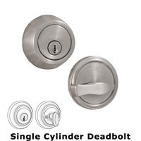 Weslock Door Hardware - Traditionale 671 Deadbolts - Model 671 Single Deadbolt Lock in Satin Nickel
