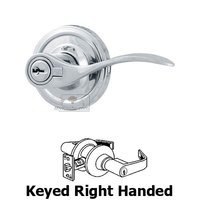 Weslock Door Hardware - Traditionale Bordeau Levers - Bordeau Right Handed Keyed Door Lever in Bright Chrome