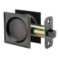 Yale Hardware - Yale Edge - Passage  Pocket Door Lock Square in Satin Nickel