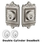 Grandeur Double Cylinder Deadbolt with Windsor Plate in Satin Nickel