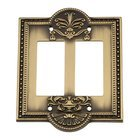 Nostalgic Warehouse - Meadows - Double Rocker Switchplate in Antique Brass